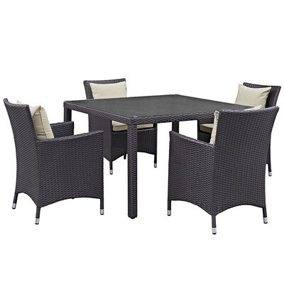 Hinsdale Patio 5 Piece Square Dining Set