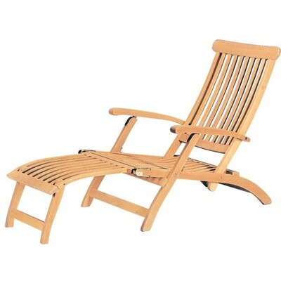 Steamer Teak Chaise Lounge