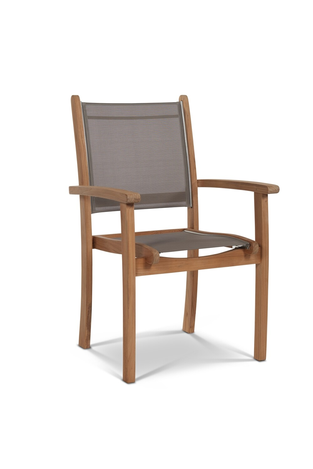Pearl Teak Stacking Armchair Set | 3 Colors