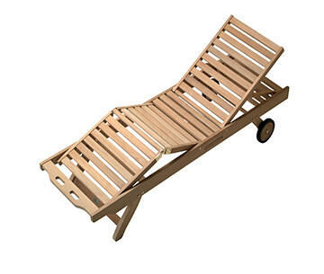 Teak Sunbrella Sun Lounger | Set of 4