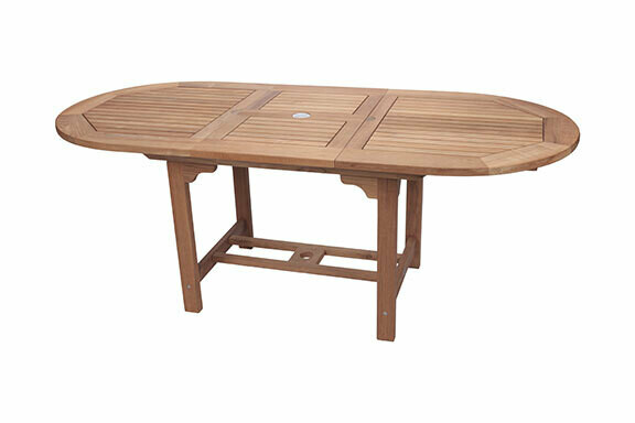 Teak Extendable Oval Dining Table  | 3 Sizes