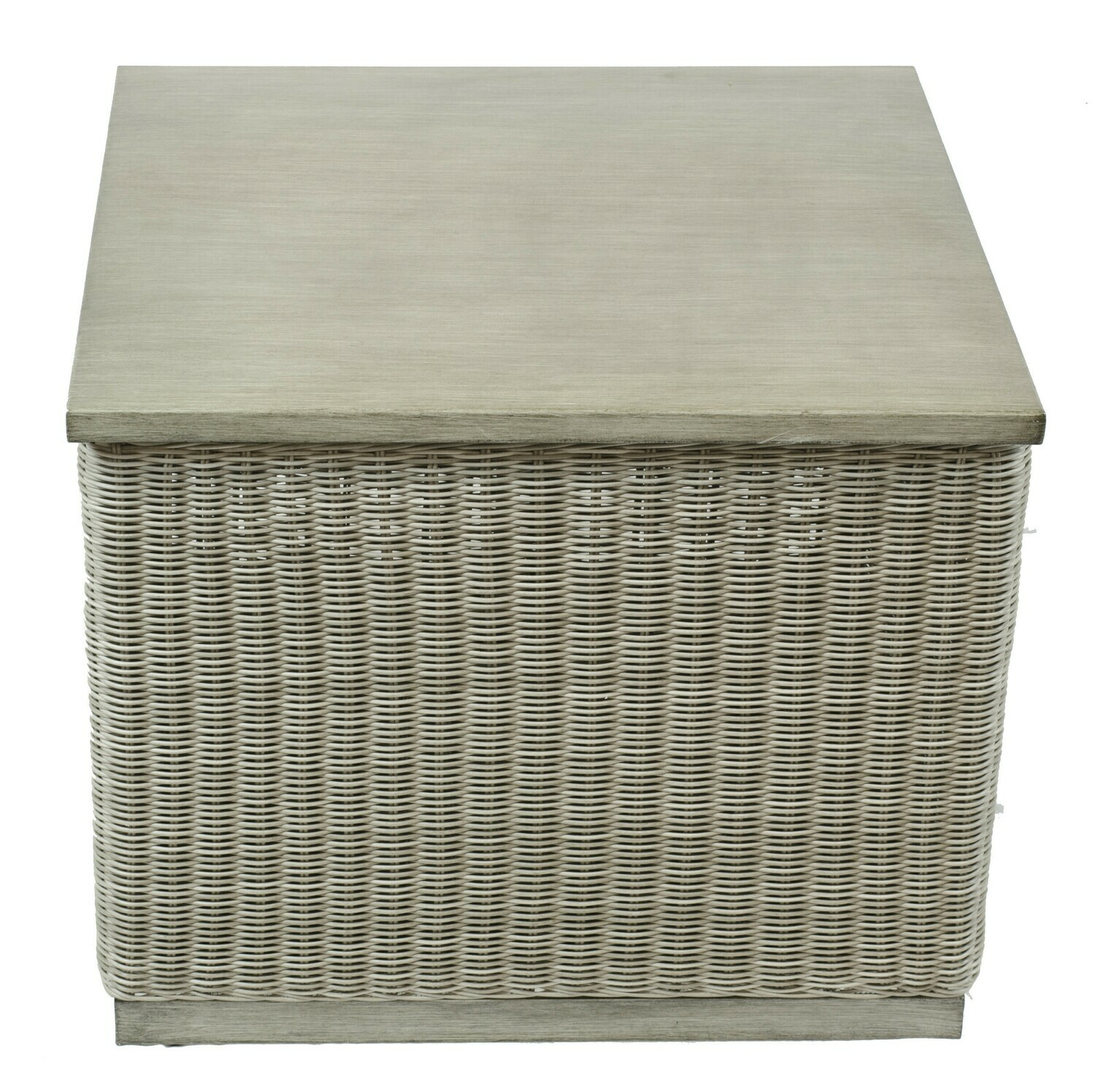 Ashland Wicker Collection Square Accent Table with Storage
