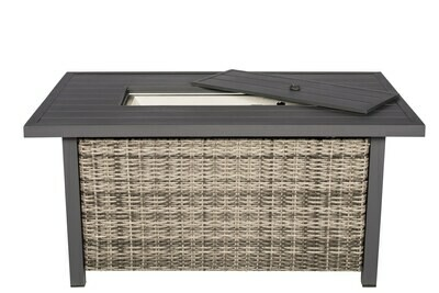 Allegro Wicker Collection Rectangle Fire Pit