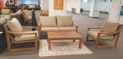 4 Piece Teak Patio Seating Group