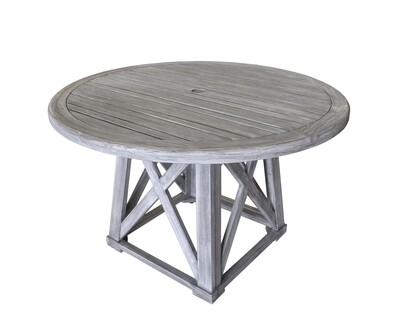 Beach Side Teak Round Dining Table