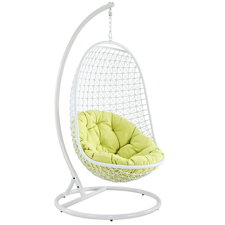 Enchant Swing Lounge Chair in White