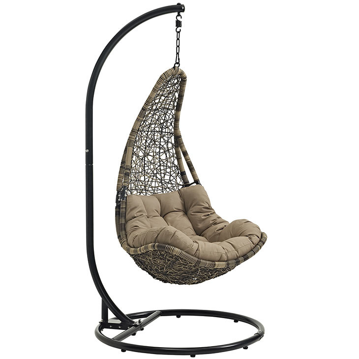 Resolve Swing Lounge Chair / Bronze-Black with Mocha Cushion