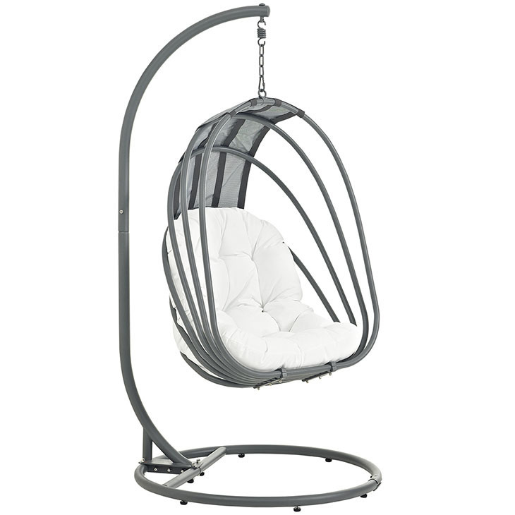 Whisk Swing Chair with White Cushion