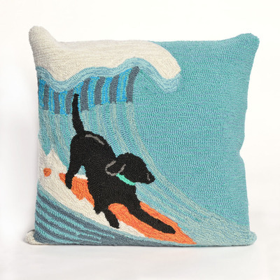 Surfing Dog Pillow