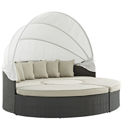 Soho Patio Canopy Daybed Set with Sunbrella® Cushion | 3 Colors