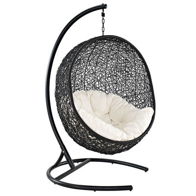 Enclave Swing Lounge Chair i Espresso & White