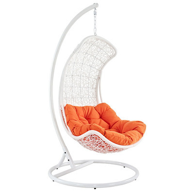 Crescent Swing Lounge Chair | White