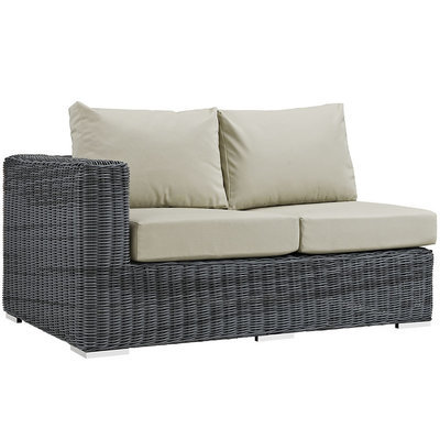 North Avenue Patio Sectional Left Arm Loveseat with Sunbrella® Cushion