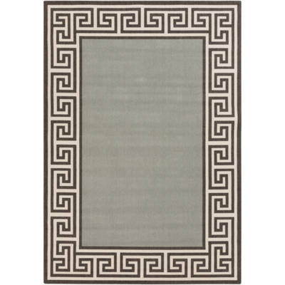 Alfresco  Indoor/Outdoor Area Rug | 7 Sizes | Geometric Trim