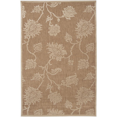 Portera Indoor/Outdoor Rug | 4 Sizes | Beige & Ivory