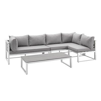 Lakeshore 4 Piece Patio Set | Grey Cushions