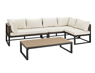 Lakeshore 4 Piece Patio Set |  Natural Cushions