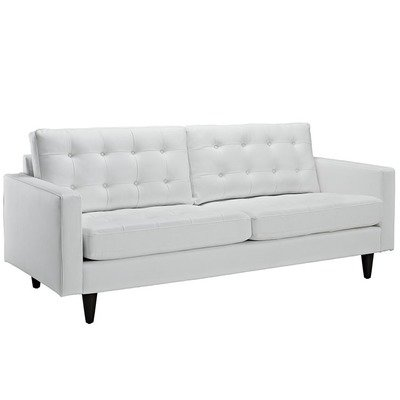 Empire Bonded Leather Sofa / Black or White