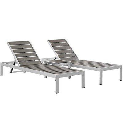 Shoreline Sun Lounger 3 Piece Set