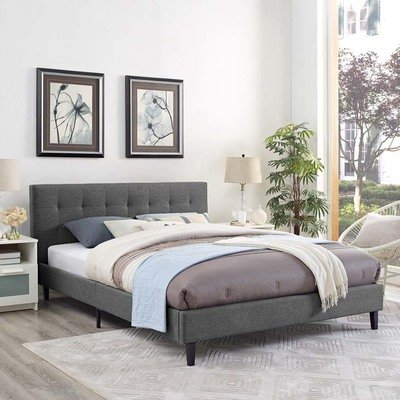 Lissa Fabric Full Bed | 5 Colors