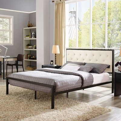 Madeline Queen Platform Bed | Gray or Beige