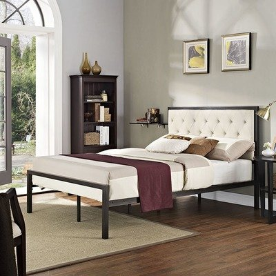 Madeline Full Platform Bed | Gray or Beige