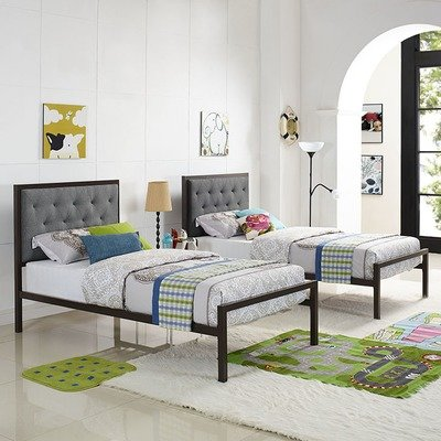 Madeline Twin Platform Bed | Gray