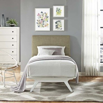 Julie Twin Platform Bed | White Frame | 6 Colors