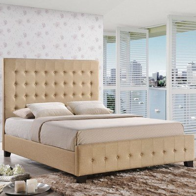 Windsor Queen Tufted Bed in Cafe