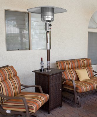 Tall Wicker Square Patio Heater