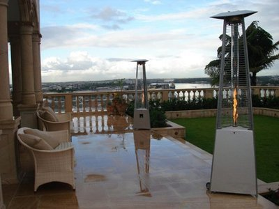 Quartz Glass Tube Patio Heater / Stainless Steel Finish