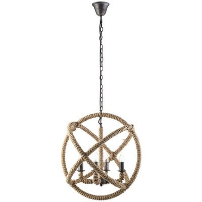 Intragal Rope and Steel Chandelier