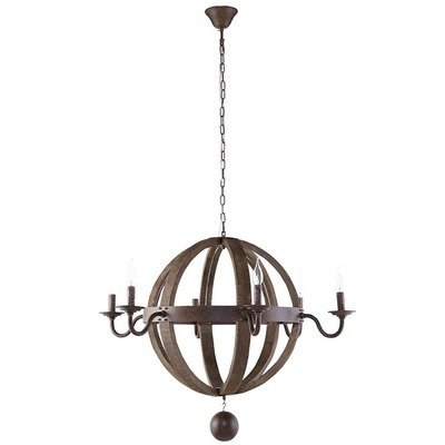 Crete Antique Brass Chandelier