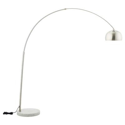Willow Floor Lamp with White Marble Round Base