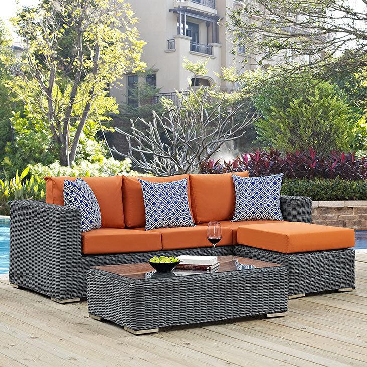 North Avenue Patio 3 Piece Set with Sunbrella® Cushion