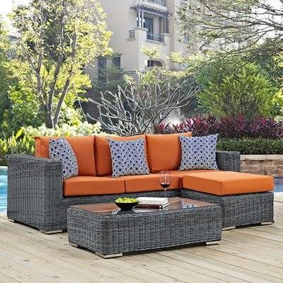 North Avenue Patio 3 Piece Set with Sunbrella® Cushion