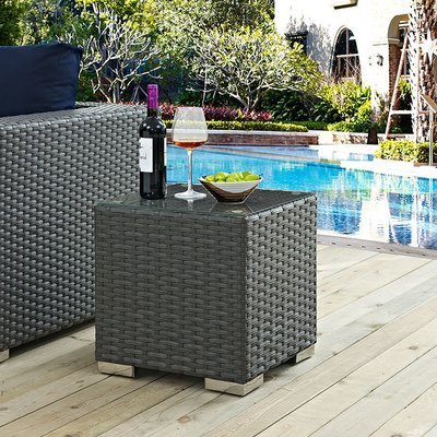 Soho Patio Side Table with Glass Top