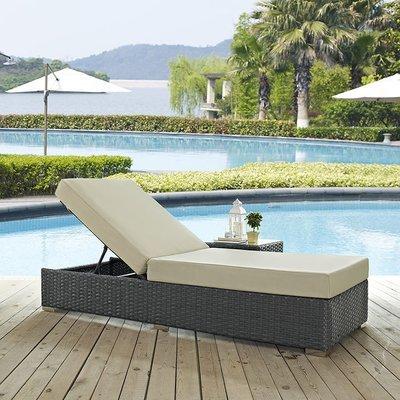 Soho Patio Single Chaise Lounge with Sunbrella® Cushion   5 Colors
