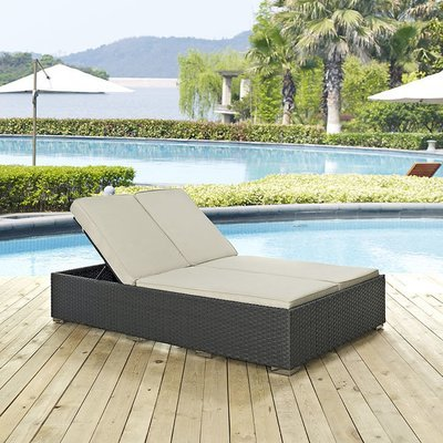 Soho Patio Double Chaise Lounge with Sunbrella® Cushion | 5 Colors