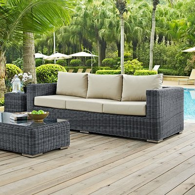 North Avenue Patio Sofa with Sunbrella® Cushion