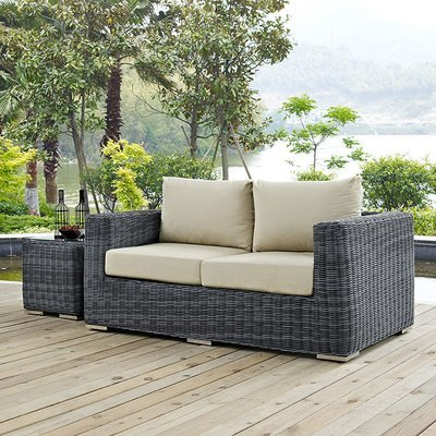 North Avenue Patio Loveseat with Sunbrella® Cushion