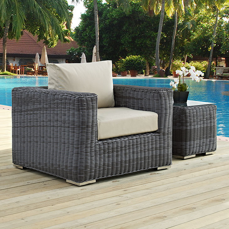 North Avenue Patio Armchair with Sunbrella® Cushion
