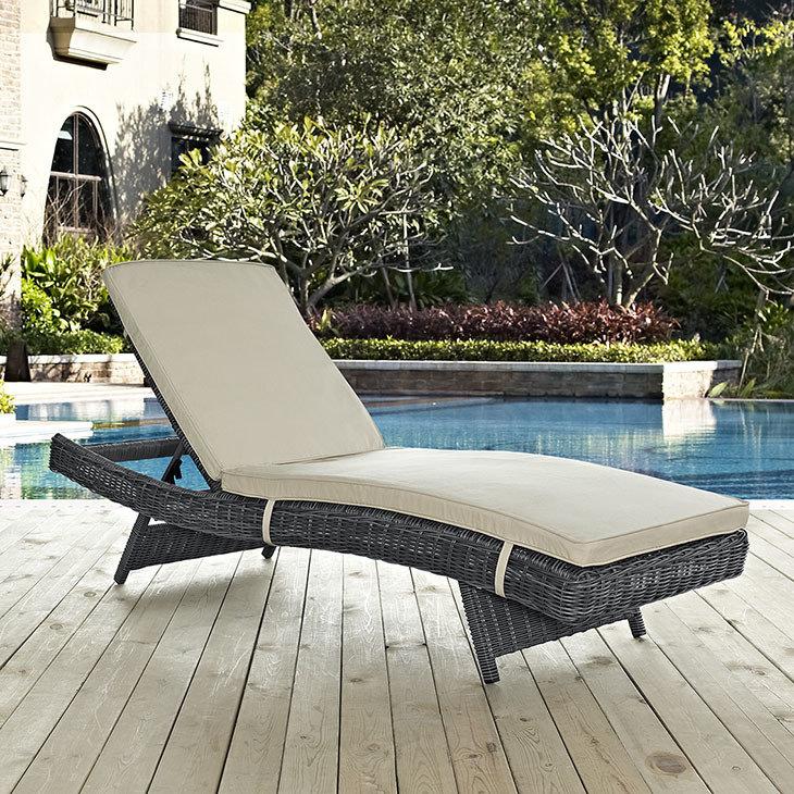 North Avenue Patio Chaise  with Sunbrella® Cushion