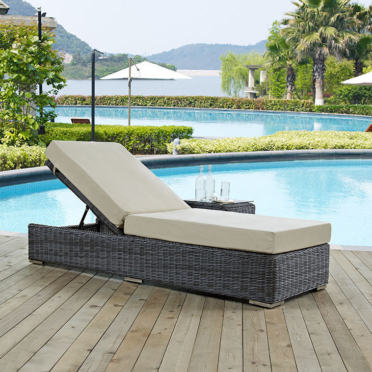 North Avenue Patio Chaise Lounge with Sunbrella® Cushion