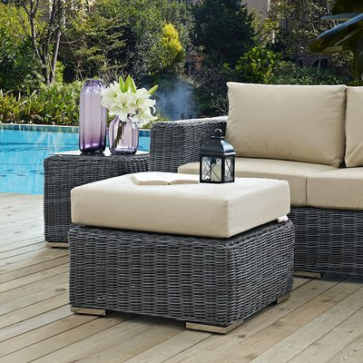 North Avenue Patio Ottoman with Sunbrella® Cushion