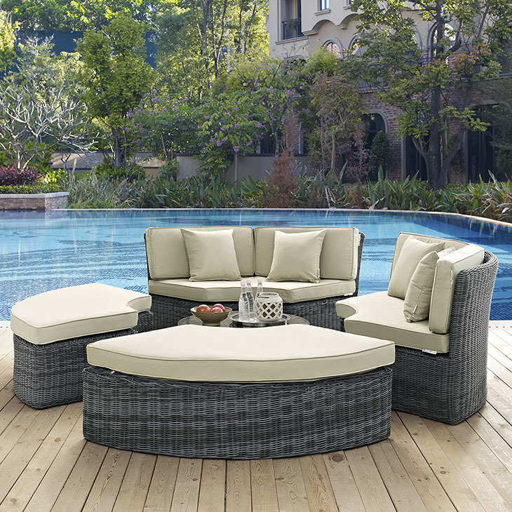 North Avenue Patio Sectional Daybed with Sunbrella® Cushion