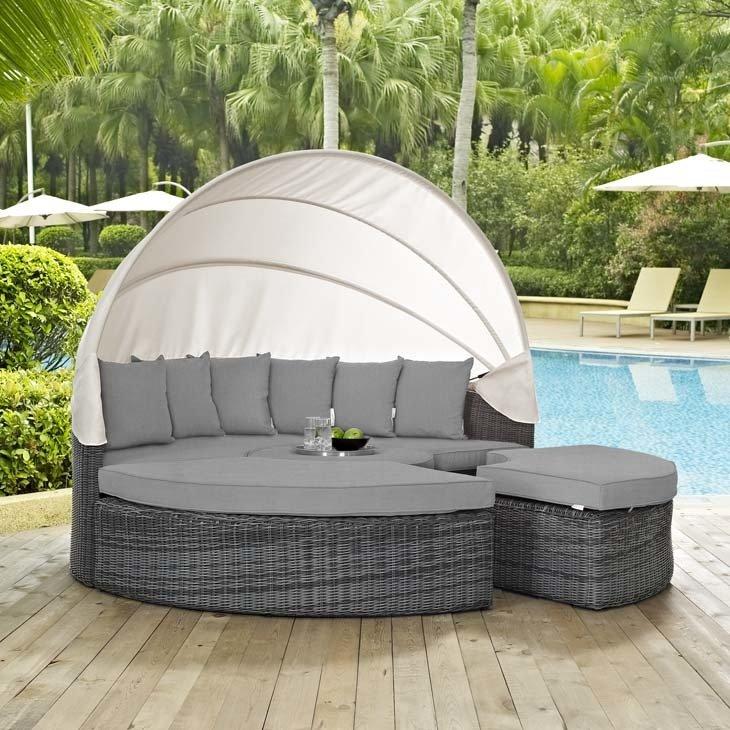 North Avenue Patio Canopy Daybed with Sunbrella® fabric