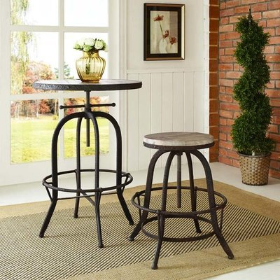 Scully's Wood Top Bar Stool   Brown or Black