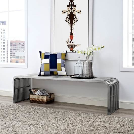 """Piper 60"""" Stainless Bench"""