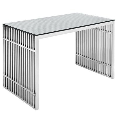 Gaines Stainless Steel Office Desk